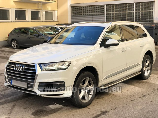 Rental Audi Q7 50 TDI Quattro White in the Hague