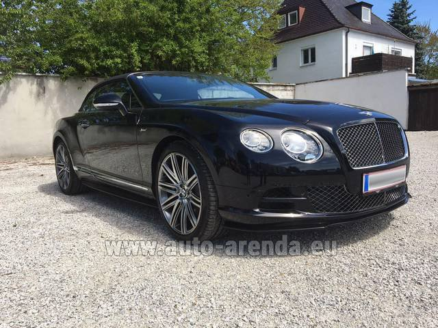 Hire and delivery to Rotterdam The Hague Airport the car Bentley Continental GTC V12-Speed