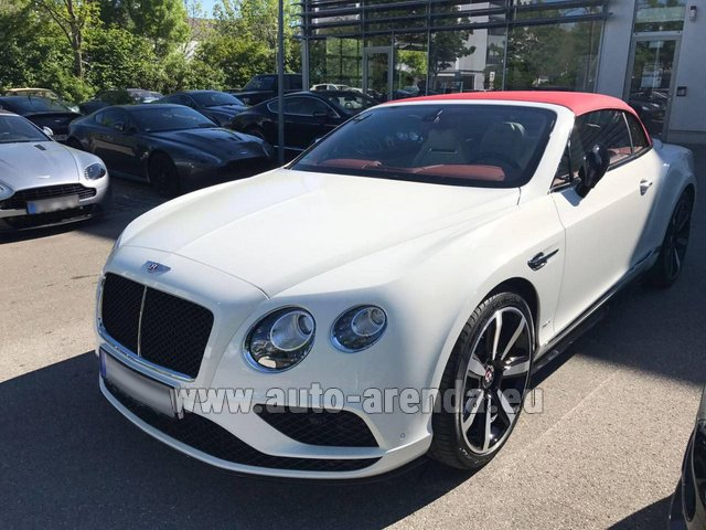 Hire and delivery to Rotterdam The Hague Airport the car Bentley Continental GTC V8 S