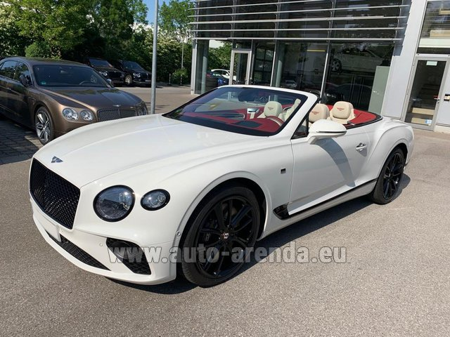 Hire and delivery to Rotterdam The Hague Airport the car Bentley GTC W12 First Edition