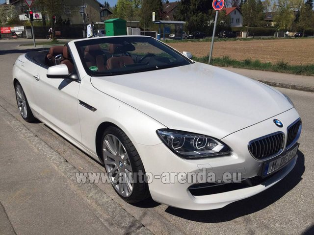 Hire and delivery to Rotterdam The Hague Airport the car BMW 640 Cabrio Equipment M-Sportpaket
