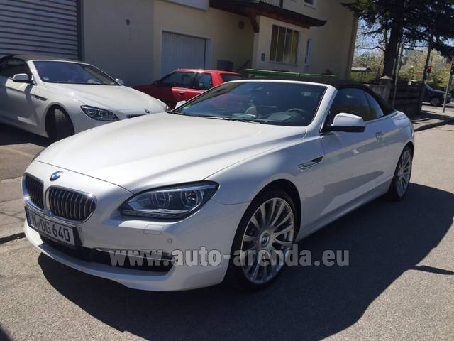Hire and delivery to Amsterdam Airport Schiphol the car BMW 640d Cabrio Equipment M-Sportpaket