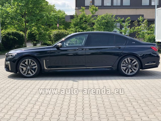 Hire and delivery to Amsterdam Airport Schiphol the car BMW M760Li xDrive V12