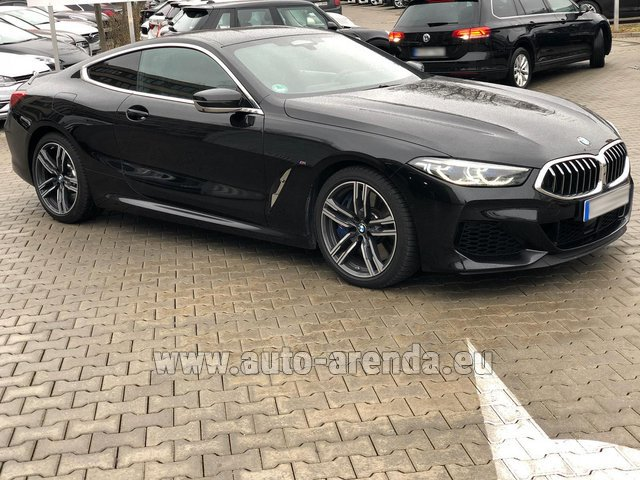 Hire and delivery to Amsterdam Airport Schiphol the car BMW M850i xDrive Coupe