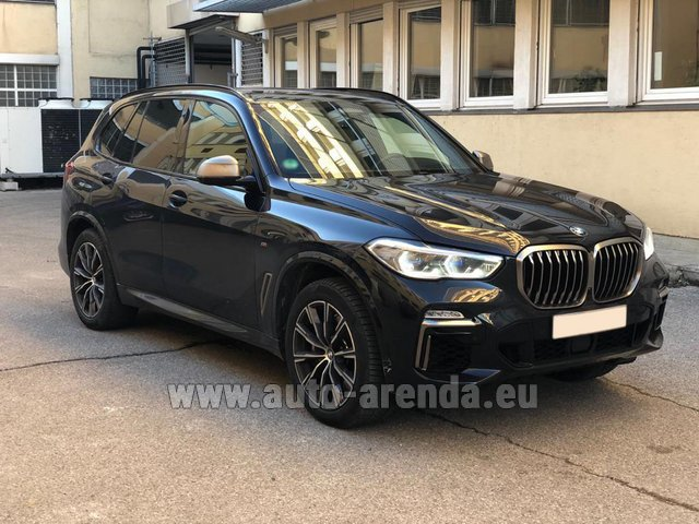 Hire and delivery to Amsterdam Airport Schiphol the car BMW X5 M50d XDRIVE