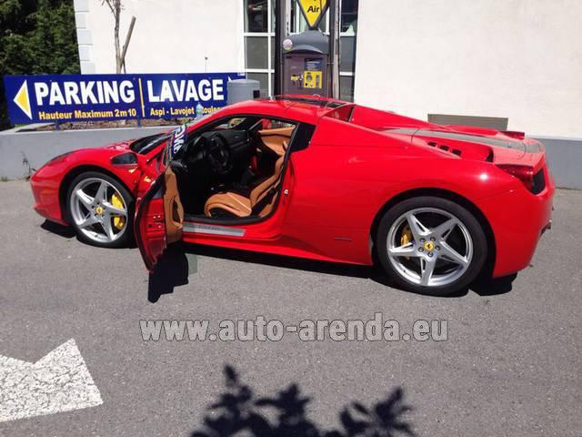 Rent The Ferrari 458 Italia Spider Cabrio Car In Amsterdam