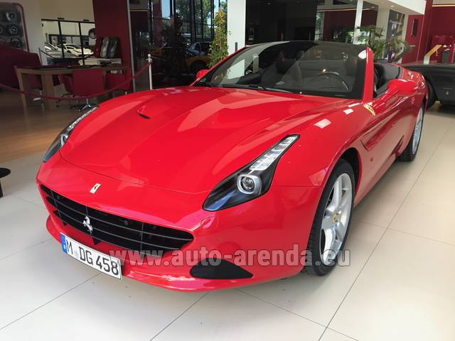 Rental Ferrari California T Convertible Red in Rotterdam