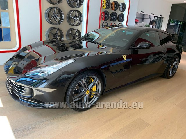Hire and delivery to Rotterdam The Hague Airport the car Ferrari GTC4Lusso