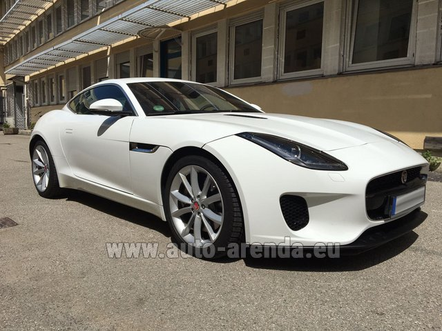 Hire and delivery to Amsterdam Airport Schiphol the car Jaguar F-Type 3.0 Coupe