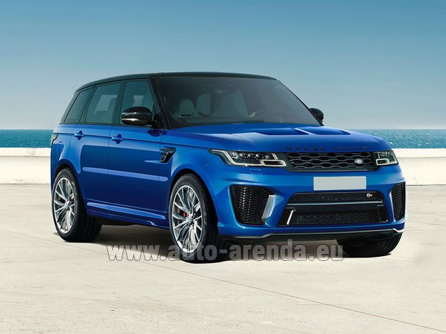 Hire and delivery to Amsterdam Airport Schiphol the car Land Rover Range Rover Sport SVR V8