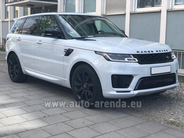 Hire and delivery to Amsterdam Airport Schiphol the car Land Rover Range Rover Sport White