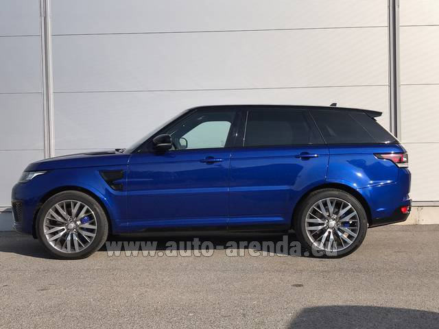 Rental Land Rover Range Sport SVR V8 in the Hague