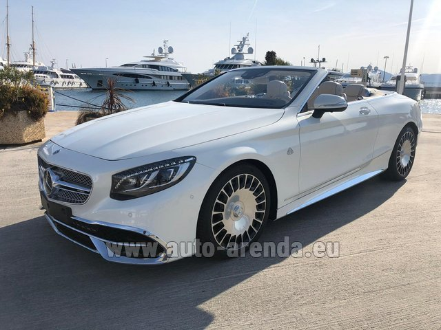 Hire and delivery to Rotterdam The Hague Airport the car Maybach S 650 Cabriolet, 1 of 300 Limited Edition