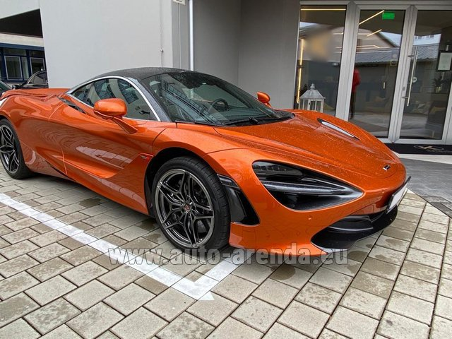 Hire and delivery to Amsterdam Airport Schiphol the car McLaren 720S