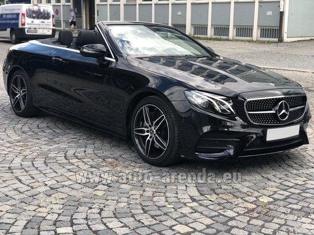 Hire and delivery to Rotterdam The Hague Airport the car Mercedes-Benz E-Class E200 Cabrio AMG equipment