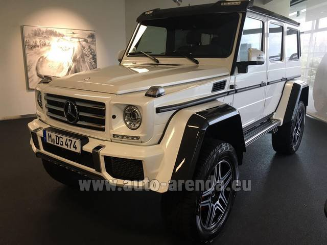 Rental Mercedes-Benz G 500 4x4 White in Rotterdam