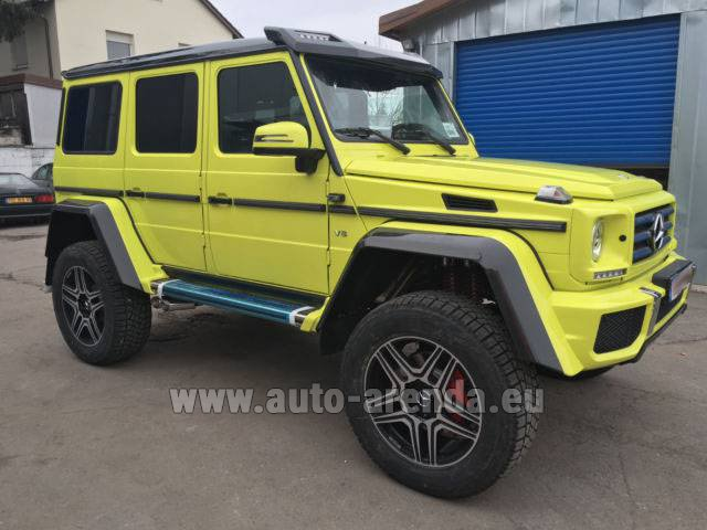 Rental Mercedes-Benz G 500 4x4 Yellow in Rotterdam