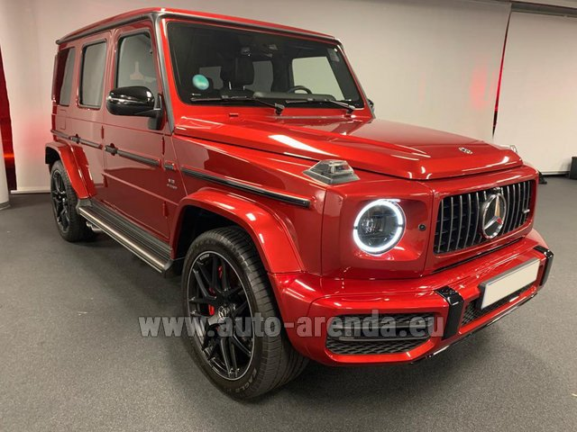 Hire and delivery to Amsterdam Airport Schiphol the car Mercedes-Benz G 63 AMG biturbo