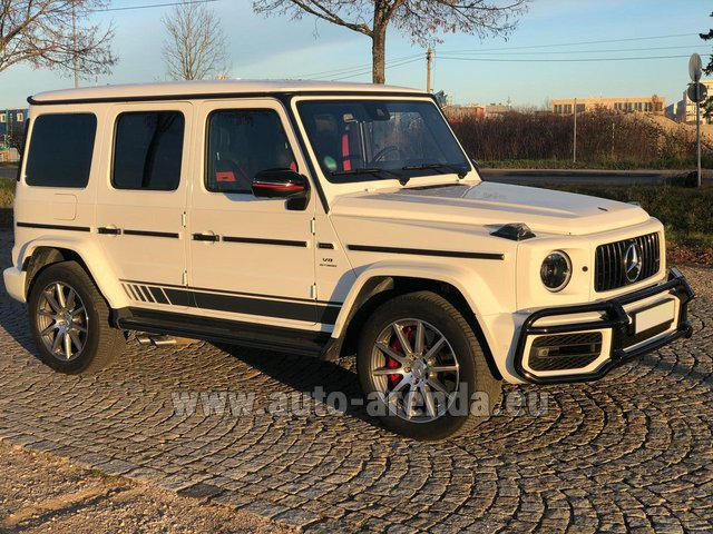 Rental Mercedes-Benz G 63 AMG White in Rotterdam