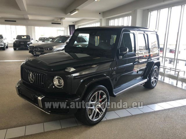 Hire and delivery to Amsterdam Airport Schiphol the car Mercedes-Benz G63 AMG V8 biturbo