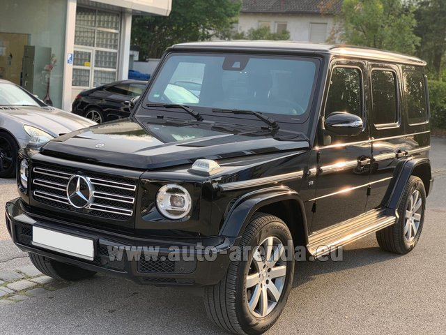 Hire and delivery to Amsterdam Airport Schiphol the car Mercedes-Benz G-Class G500 Exclusive Edition