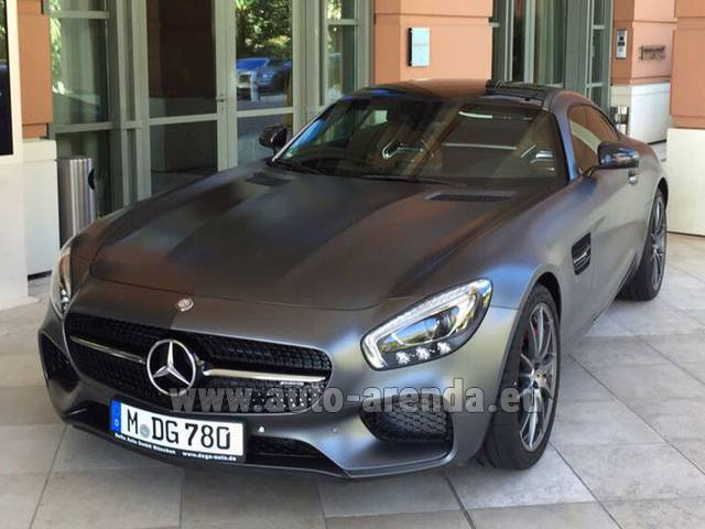 Hire and delivery to Amsterdam Airport Schiphol the car Mercedes-Benz GT-S AMG