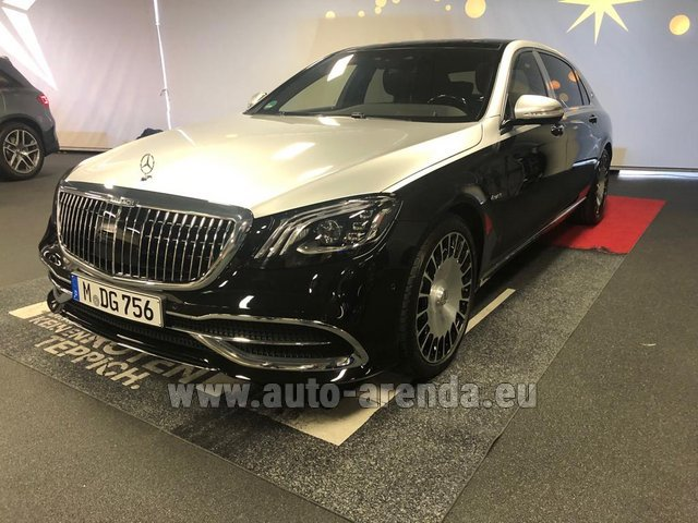 Rental Maybach S 560 4MATIC AMG equipment Metallic and Black in Netherlands