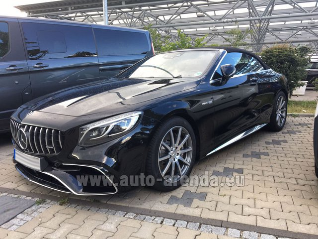 Hire and delivery to Rotterdam The Hague Airport the car Mercedes-Benz S 63 AMG Cabriolet V8 BITURBO 4MATIC+