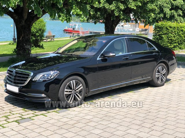 Hire and delivery to Amsterdam Airport Schiphol the car Mercedes-Benz S-Class S400 Long 4Matic Diesel AMG equipment