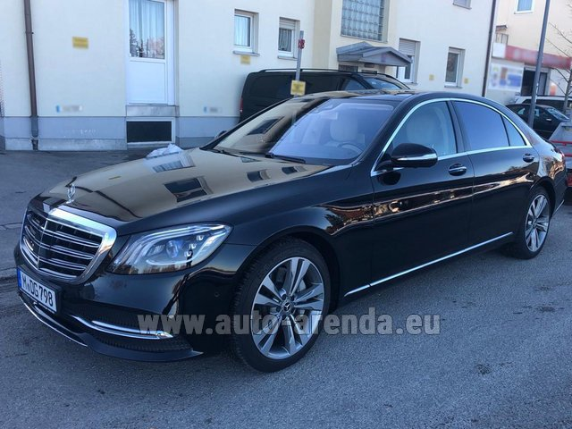 Hire and delivery to Amsterdam Airport Schiphol the car Mercedes-Benz S-Class S400 Long Diesel 4Matic AMG equipment
