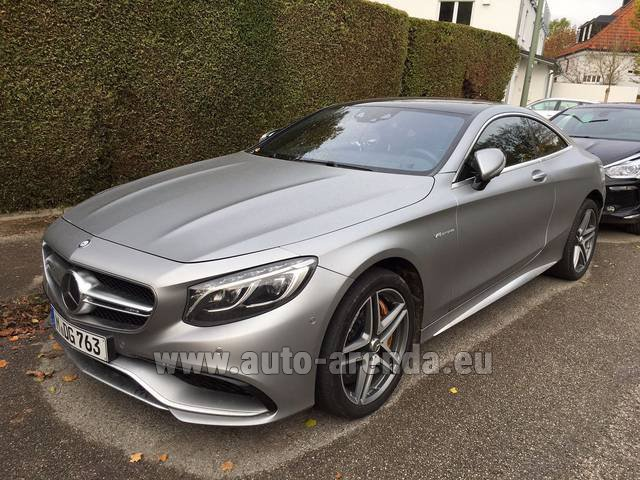 Hire and delivery to Amsterdam Airport Schiphol the car Mercedes-Benz S-Class S63 AMG Coupe
