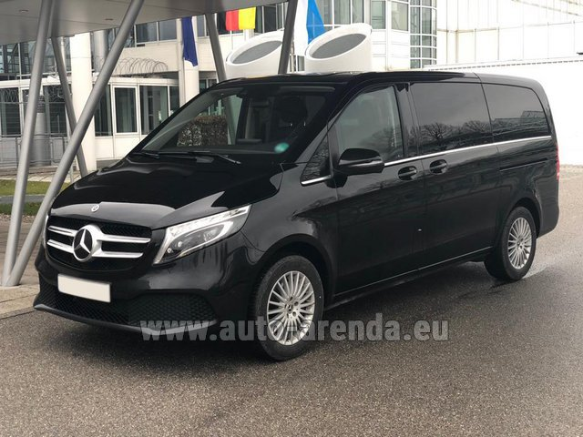Hire and delivery to Amsterdam Airport Schiphol the car Mercedes-Benz V-Class (Viano) V 300 d 4MATIC AMG equipment