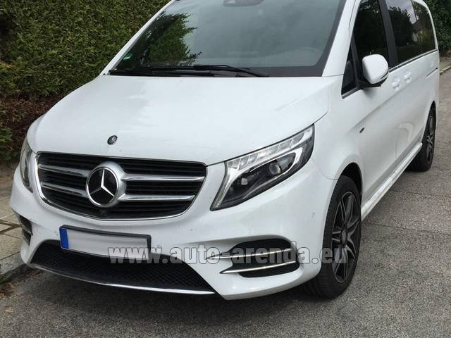 Hire and delivery to Amsterdam Airport Schiphol the car Mercedes-Benz V-Class (Viano) V 250 D 4Matic AMG Equipment