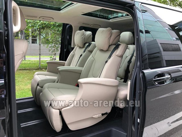 Hire and delivery to Amsterdam Airport Schiphol the car Mercedes-Benz V300d 4MATIC EXCLUSIVE Edition Long LUXURY SEATS AMG Equipment