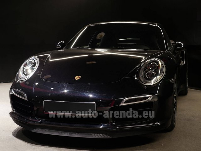 Hire and delivery to Amsterdam Airport Schiphol the car Porsche 911 991 Turbo S Ceramic LED Sport Chrono Package