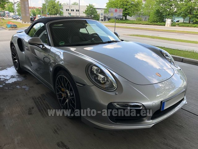 Hire and delivery to Rotterdam The Hague Airport the car Porsche 911 991 Turbo S