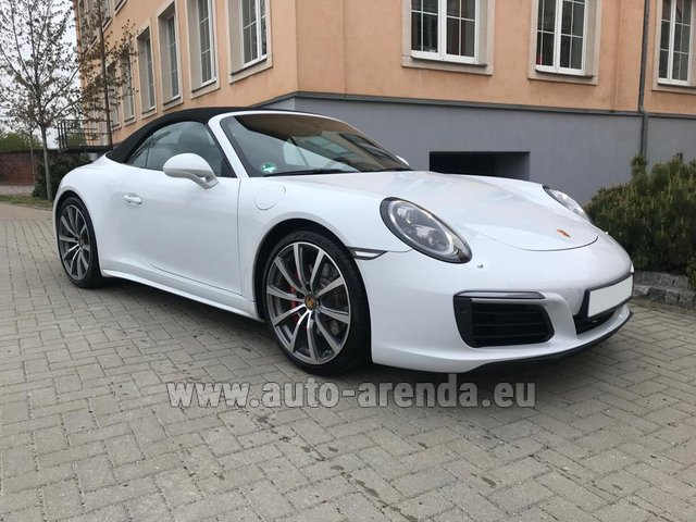 Hire and delivery to Amsterdam Airport Schiphol the car Porsche 911 Carrera 4S Cabrio