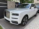 Rolls-Royce Cullinan White car for transfers from airports and cities in Germany and Europe.