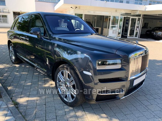 Rental Rolls-Royce Cullinan dark grey in Rotterdam
