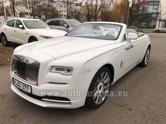 Hire and delivery to Rotterdam The Hague Airport the car Rolls-Royce Dawn