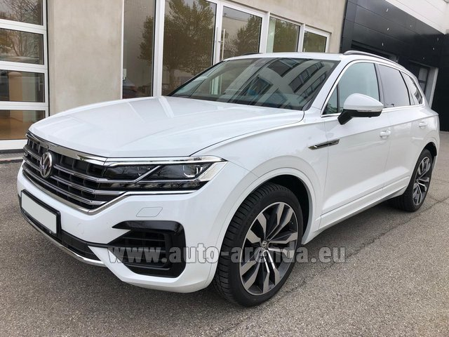 Hire and delivery to Amsterdam Airport Schiphol the car Volkswagen Touareg 3.0 TDI R-Line